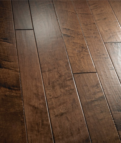 Montecito maple hardwood flooring hand scraped wood for Lp engineered wood