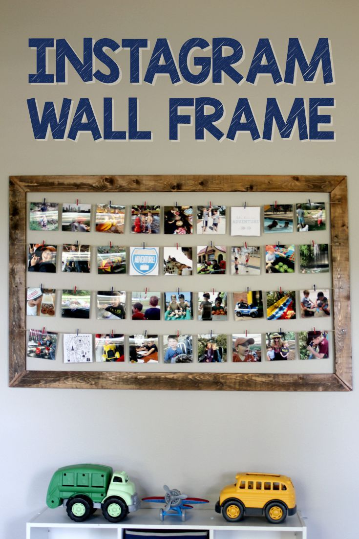 This easy Instagram Frame Wall only requires $30 in supplies and one nail to hang it. Since we move all the time this is perfect for me to bring to each new home and continue to enjoy all our memories.