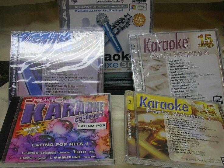 Lot of 5 Karaoke CDs Craig Latino Pop Keynote Motown #MixedLot