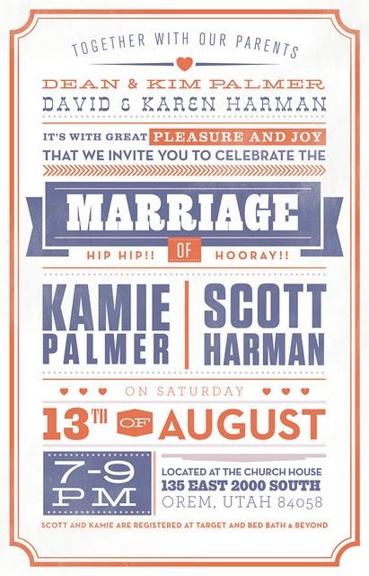 vintage wedding invite, designer: tanner capua