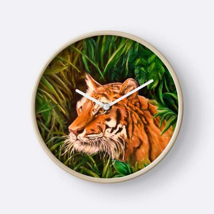 Tiger mania, Tiger obsession, Tiger addiction,  Wall Clock