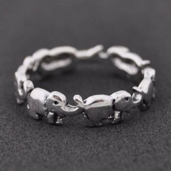 Elephant Sterling Silver Ring. I found a matching necklace on forever 21.com