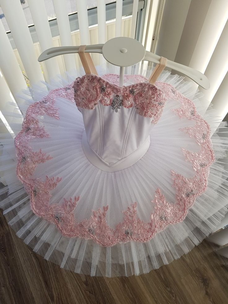 White Pink and Silver Tutu by JeTutus