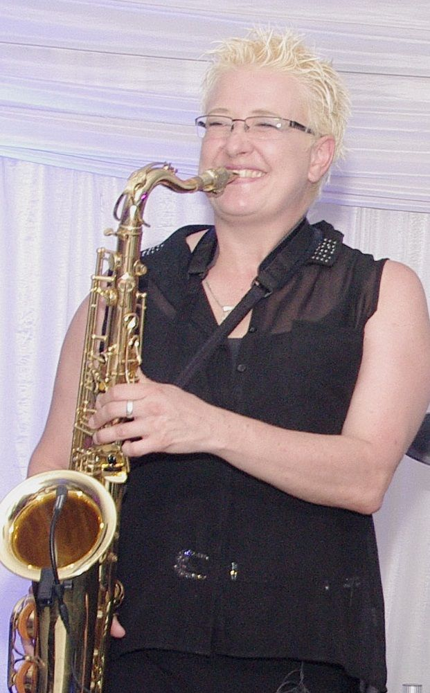 Sax player from Girl Talk 2000. Abbey Artico