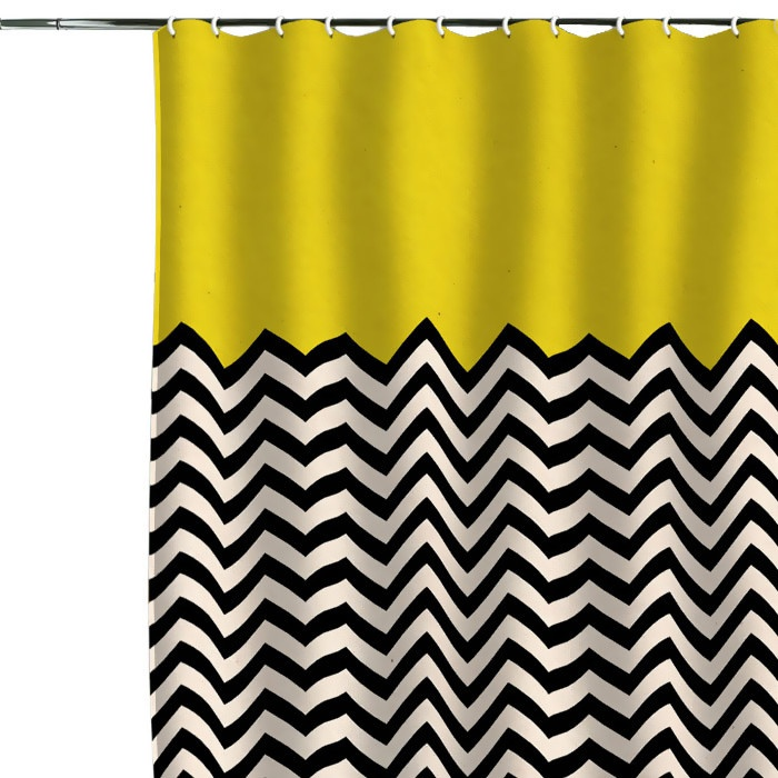 Graphic Half Chevron Shower Curtain