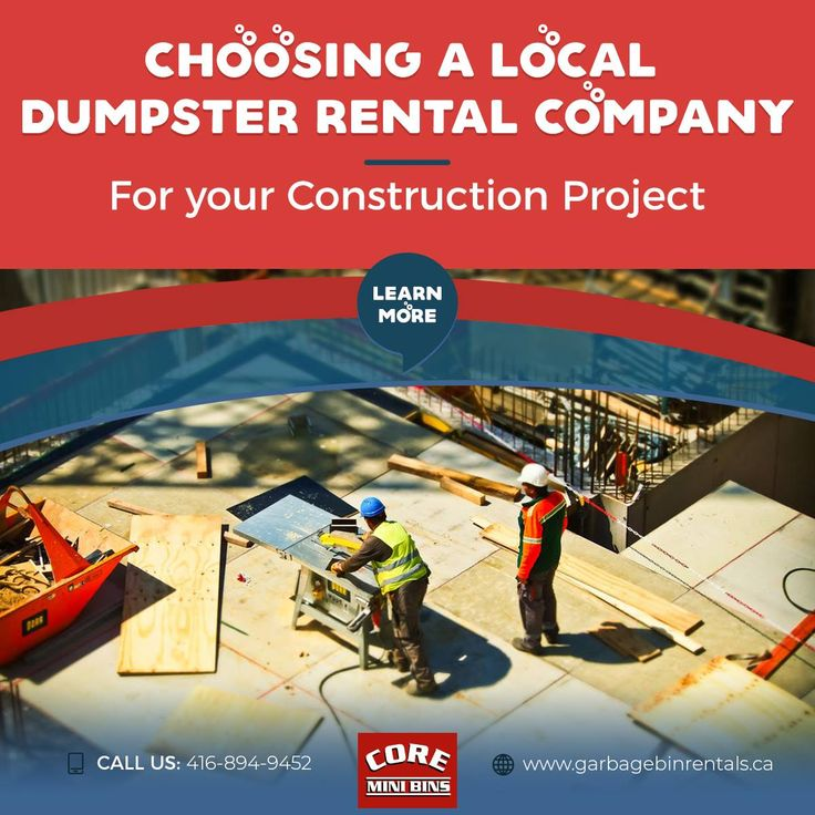 Choosing A Local Dumpster Rental Company For Your Construction Project  For the highest quality service when it comes to a dumpster rental, selecting a local dumpster rental company comes highly recommended.  If you've never rented a dumpster before, doing so is an easy way to dispose of waste and garbage. As long as weight, loading, and material limitations are adhered to, see a big difference in how tidy your construction or renovation site.