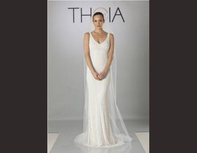 Robe de mariée droite Theia 2014