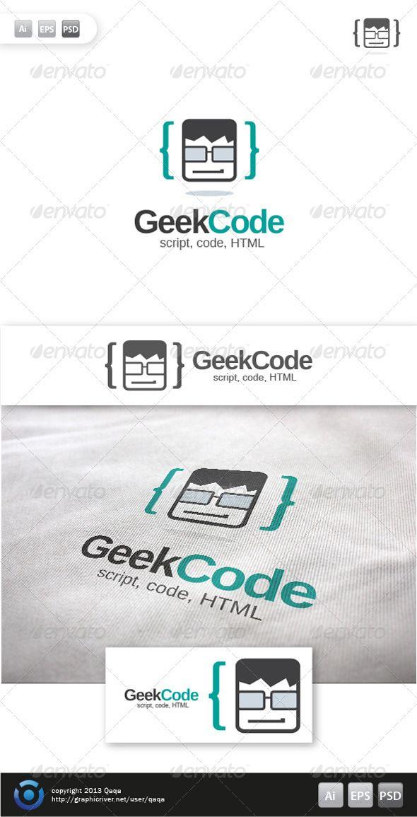 Geek Code Logo - 03 - Humans Logo Templates