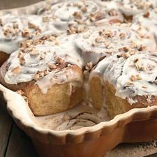 Cinnamon-Swirl Pumpkin Rolls – Cinnamon-roll lookalikes made with a golden, pumpkin-scented dough and lots of spice.