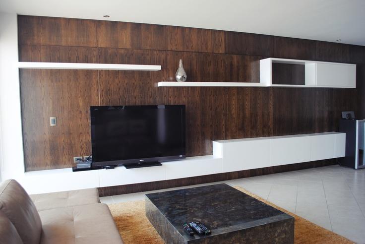 Dise o mueble tv empotrado carpinteria fina muebles home for Muebles television diseno