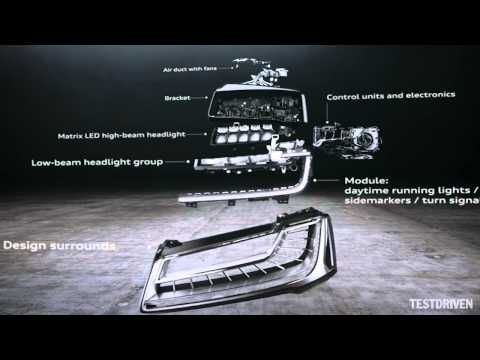 Audi A8 Matrix LED headlights - YouTube