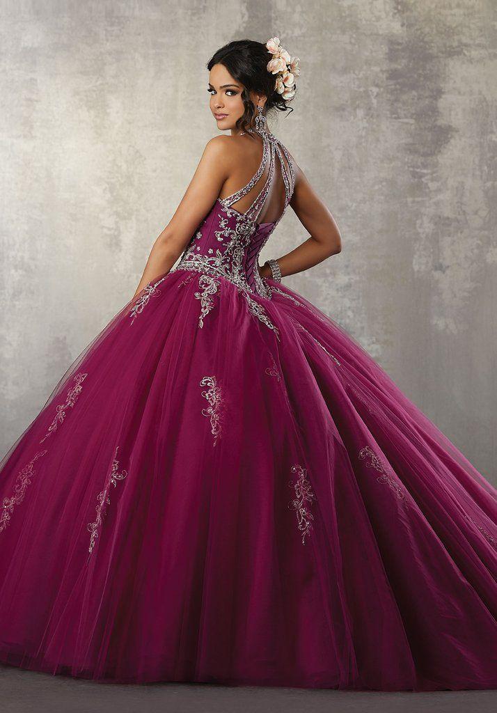 7fef48780b7 Illusion A-Line Quinceanera Dress by Mori Lee Vizcaya 89178-Mori Lee Vizcaya -ABC Fashion
