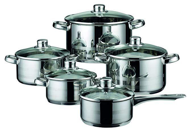 Best Cookware Set For Electric Stoves Review Cookware Set Stainless Steel Induction Cookware Pots And Pans Sets