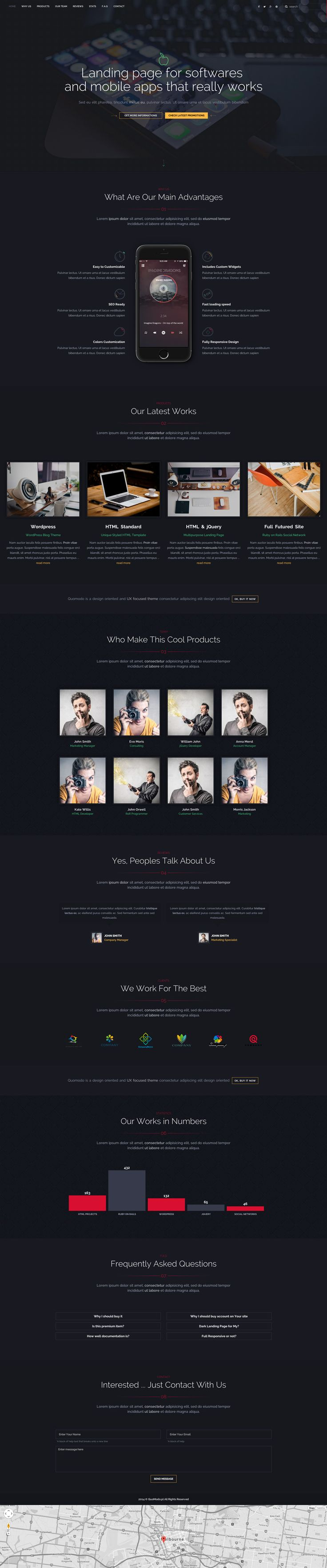 Dark Style WebSite Landing Page for every industry. Responsive , clean webdesign / layout for everyone. Buy it in here  http://themeforest.net/item/dark-style-landing-page/9822011