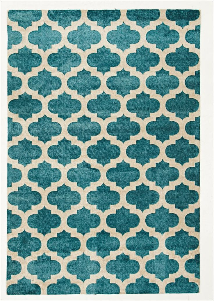 Vibrant Blue Trellis Rug. View at Rugs Of Beauty: https://www.rugsofbeauty.com.au/products/trellis-stylish-design-rug-blue