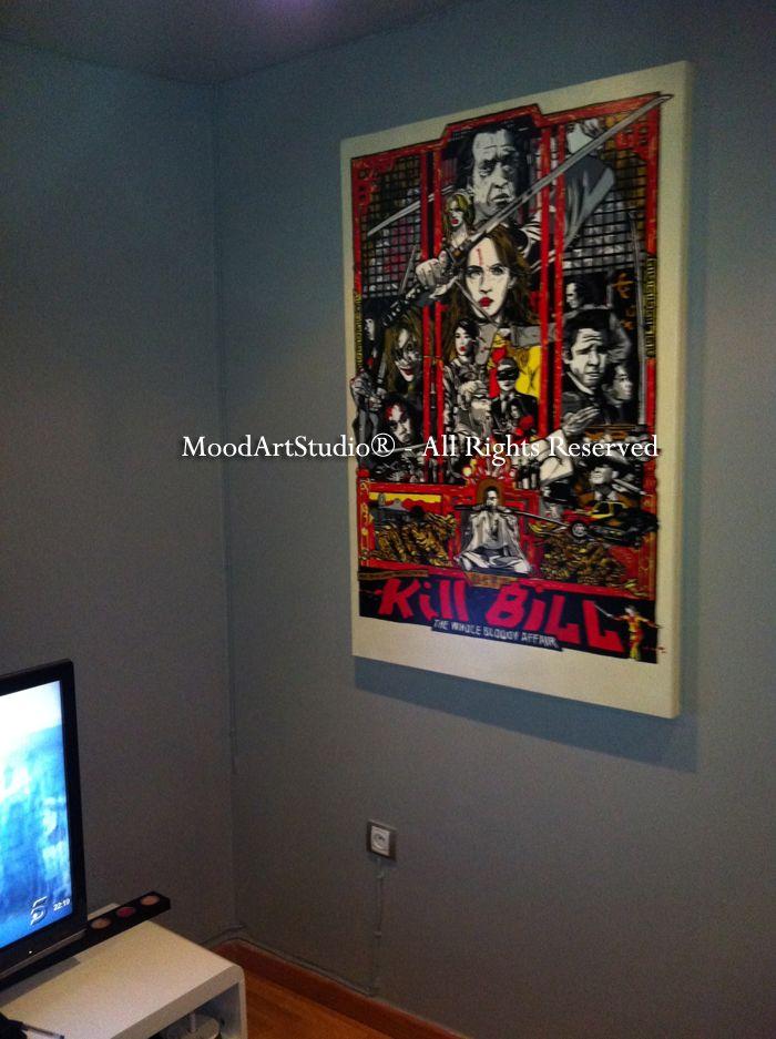 Cuadro moderno Kill Bill pintado a mano sobre lienzo. Gracias Marcos por mandarnos la foto! Al ser un cuadro personalizado no podemos dejaros link, asi que aqui teneis nuestra pagina:http://www.moodartstudio.es