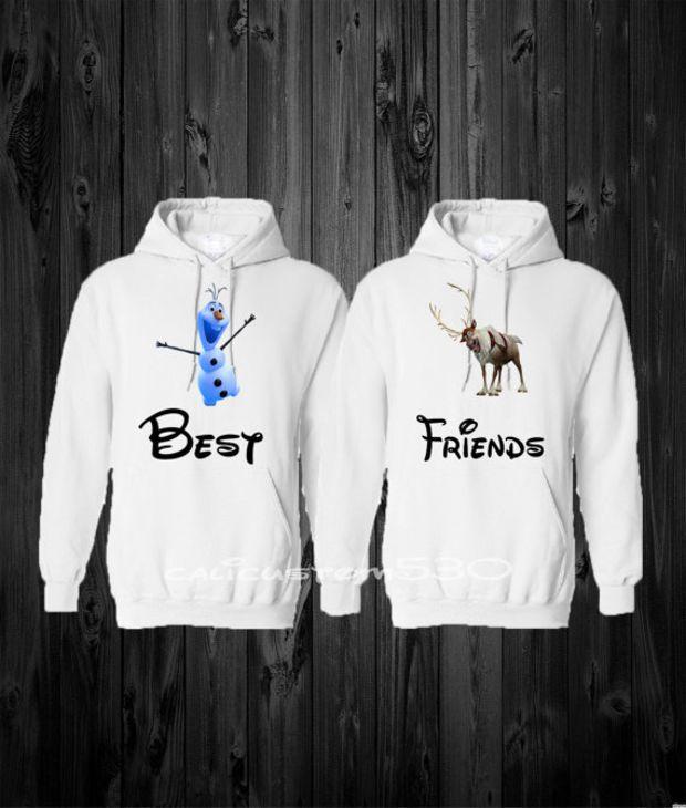 Two Matching BEST FRIEND Hoodie Sweatshirt