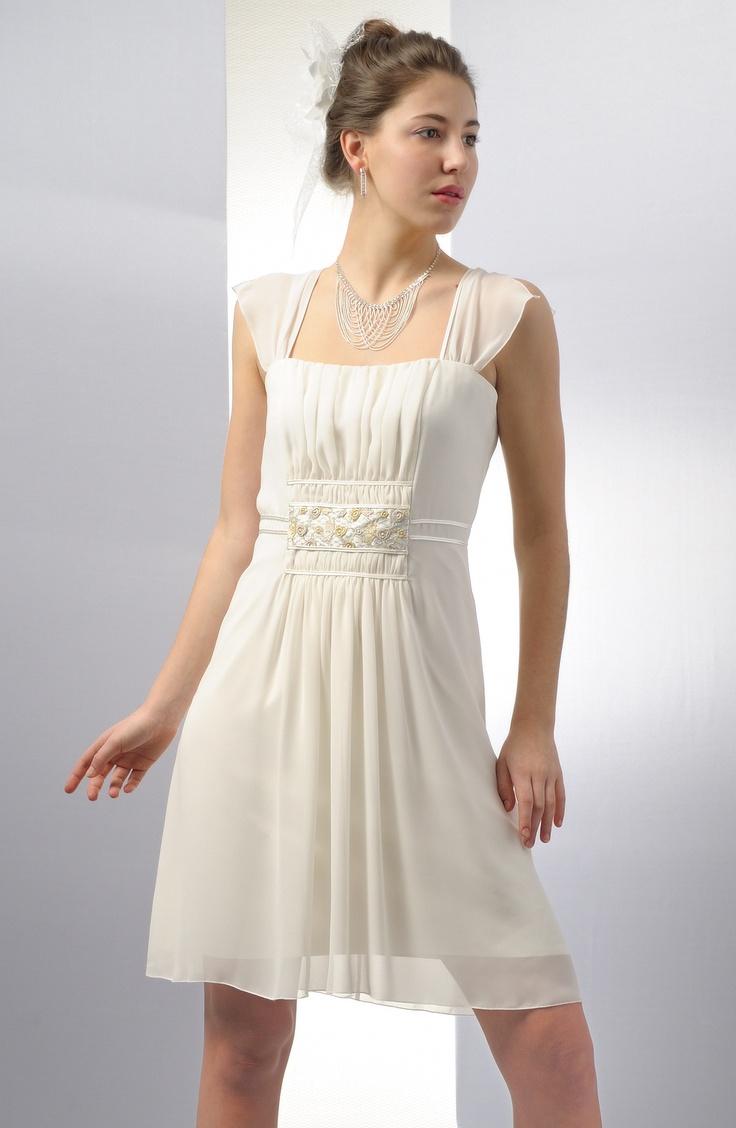 Krátké svatební šaty v římském stylu | Verino
