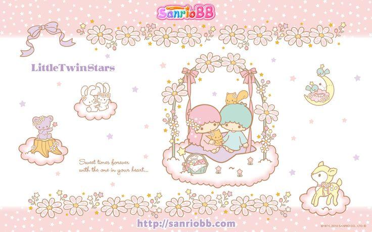 Little Twin Stars Wallpaper 2010 七月桌布 日本 SanrioBB Present