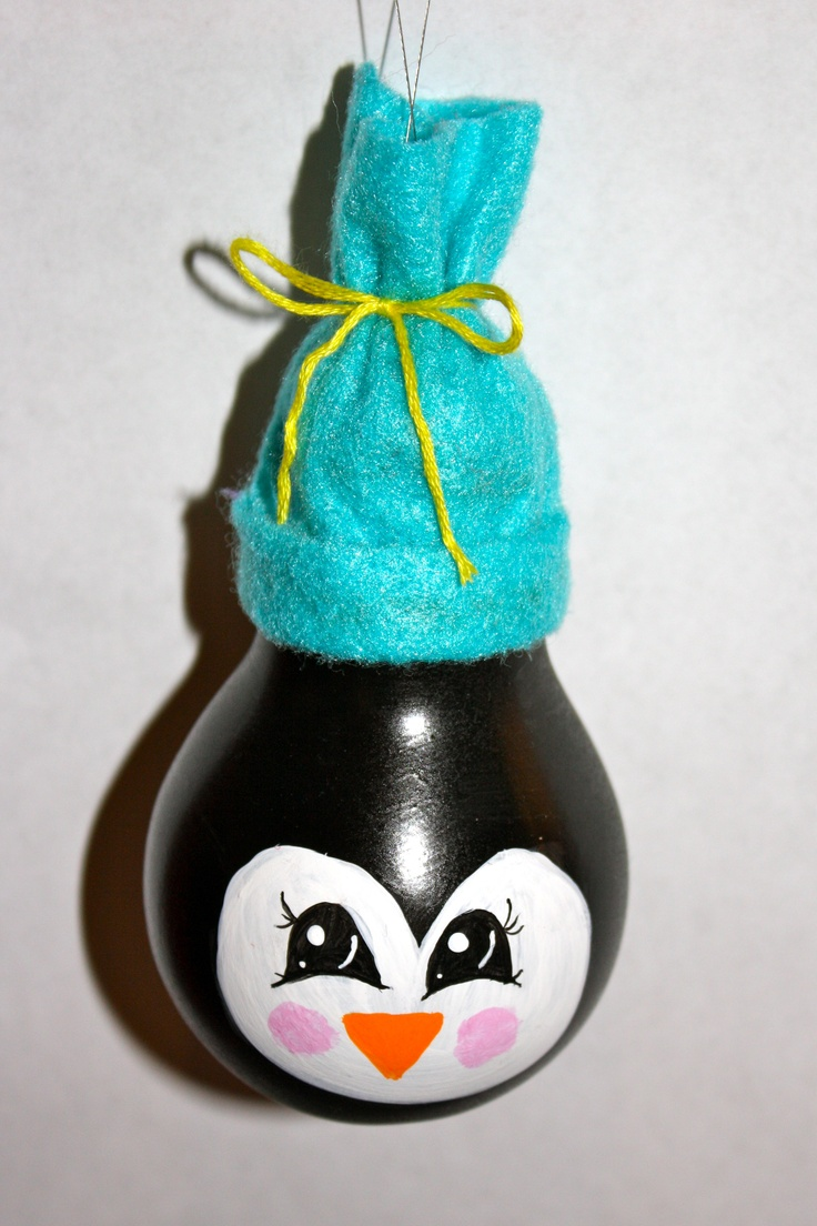 Light bulb ornaments - Penguin Light Bulb Ornament