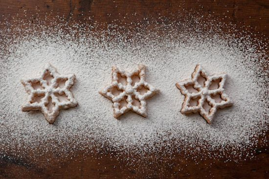 Rosettes Dusted with Powdered Sugar