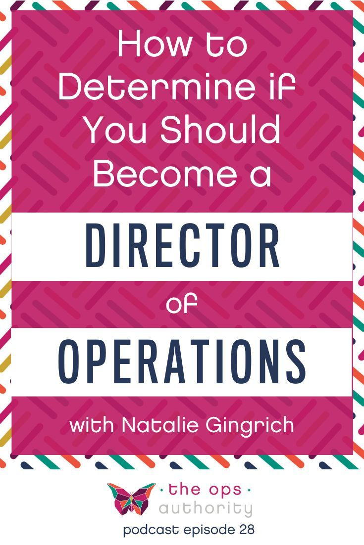 How To Determine If You Should Become A Director Of Operations The Ops Authority How To Become Digital Marketing Business Online Digital Marketing