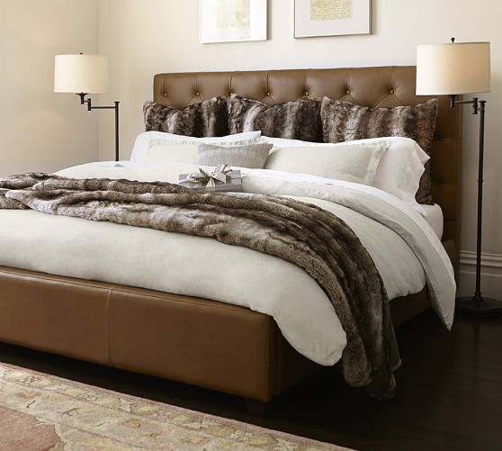 Lorraine Tufted Leather Low Bed Headboards For Beds Leather Headboard Bedroom Leather Bed Headboard