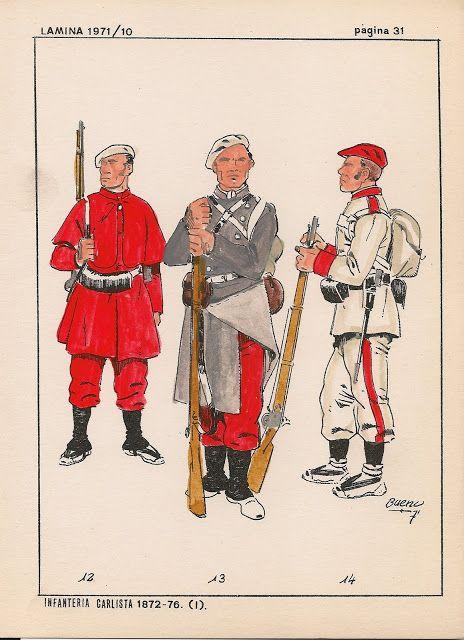 12 Infantería Alavesa, 13 Infantería Vizcaina y 14 Infantería Navarra. Irache 1874