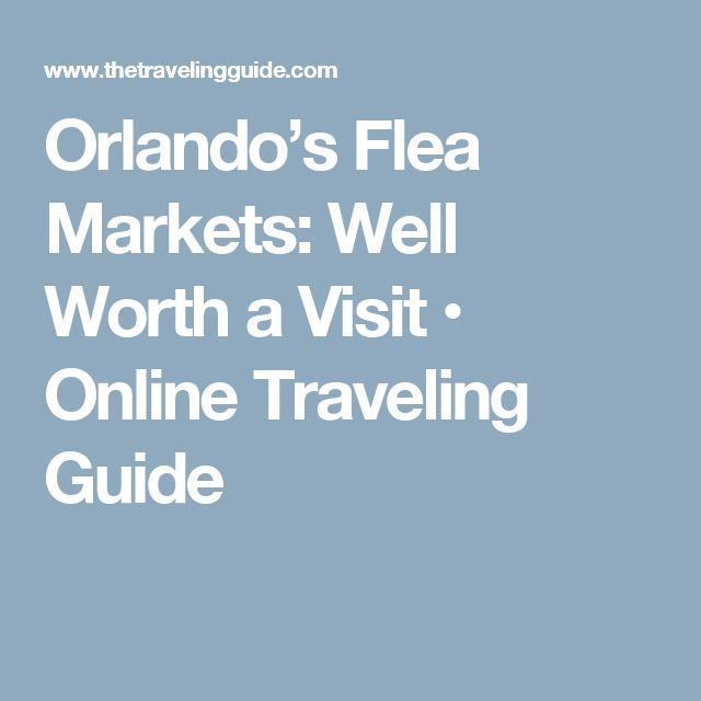 Orlando's Flea Markets: Well Worth a Visit • Online Traveling Guide
