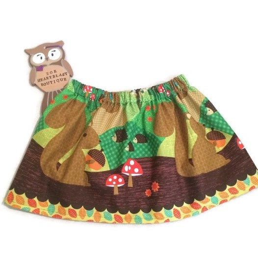 Such a lovely hot & sunny day today isn't it? Iv been sewing up some orders, had a walk to the post office & played on the park with my littlest! Now this gorgeous little squirrel skirt is off on its way to Brinda in the USA! Dresses also available