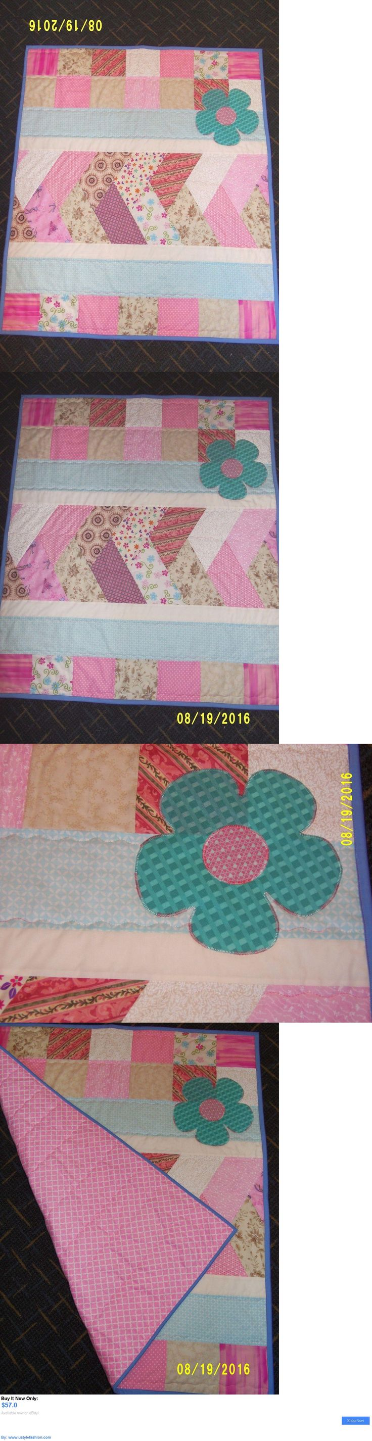 Quilts And Coverlets: Baby Girls Pink Quilt Blanket, Nursery Bedding For Girls, Crib Quilts, Gifts BUY IT NOW ONLY: $57.0 #ustylefashionQuiltsAndCoverlets OR #ustylefashion