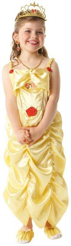 Déguisement Belle fille La Belle et la Bête™ : Ce déguisement de Belle™ pour fille est sous licence officielle Disney™.Il se compose d'une robe, d'une paire de pantoufles, d'une couronne, d'un collier,...