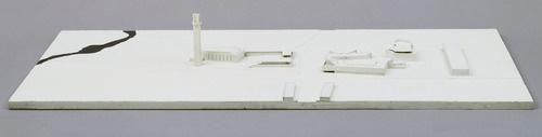 "Town Center, Seinajoki, Finland  Alvar Aalto (Finnish, 1898–1976)    1958-87. Wood, 5 3/4 x 47 1/4 x 23 3/4"" (14.6 x 120 x 60.3 cm). David Rockefeller Jr. Fund, gift of Alvar Aalto Architects Ltd. and Department Purchase Fund"