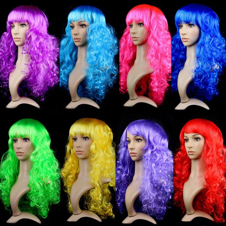 Multi-Color Women's Sexy Long Curly Fancy Dress Wigs Cosplay Costume Full Wig #Unbranded