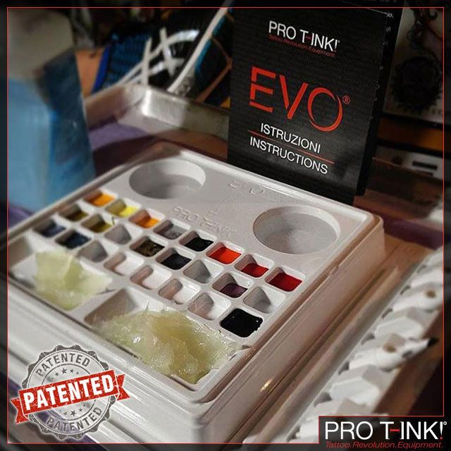EVO is a sterile tattoo workstation quick to position and ready to use. It is composed of three elements: the palette the flat tray and the needle holder. PATENTED!  Find out more and BUY ONLINE: http://www.pro-t-ink.com  #protink #evo #evo10 #evo24 #tattooworkstation #tattoosetup #tattooequipment #tattoosupply #tattoorevolution #inkcups #tattooink #quicktattoosetup #stopcrosscontamination #sterile #patented #tattooartists #benchorganizer #hygienicsetup #tattoosupplies