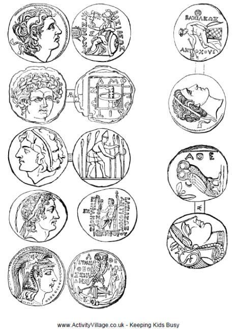 Free printable coins from Ancient