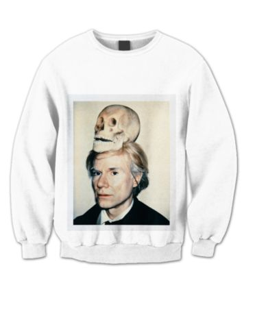 ANDY WARHOL SKULL SWEATSHIRT   #sweatshirt #shirt #sweater #womenclothing #menclothing #unisexclothing #clothing #tops
