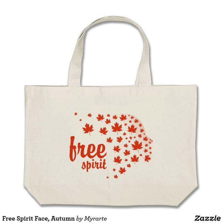 Free Spirit Face, Autumn. Producto disponible en tienda Zazzle. Accesorios, moda. Product available in Zazzle store. Fashion Accessories. Regalos, Gifts. #bolso #bag