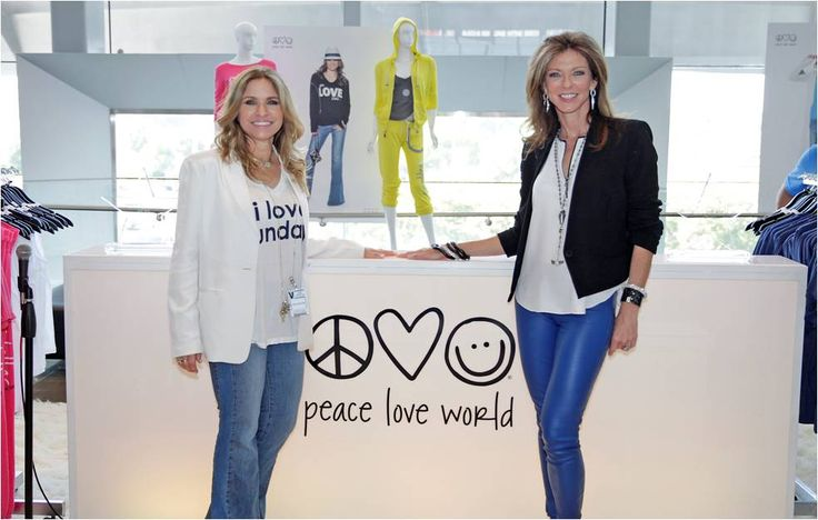 Peace Love World Creator Alina Villasante and Dallas Cowboys Vice President Charlotte Jones Anderson www.shopcowboys.com