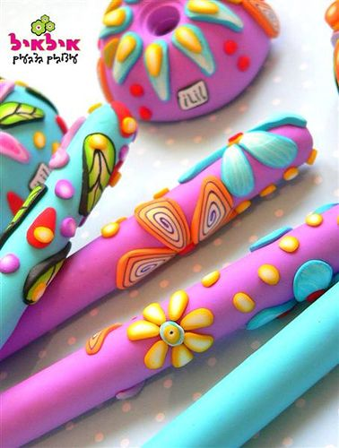 polymer+clay+pens | Polymer clay pens | Flickr - Photo Sharing!