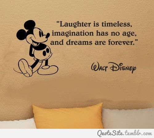 Fancy - Walt Disney Mickey Mouse Laughter Is Timeless wall quote vinyl