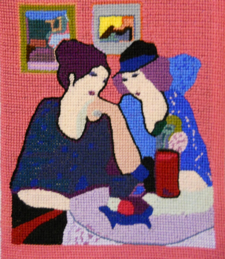 Original Needlepoint Art created and stitched on canvas by Paul Tartanella LTA233  paulcsrr@verizon.net