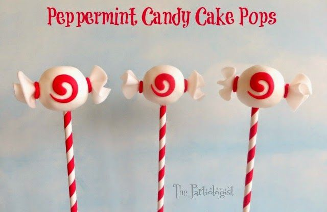 The Partiologist: Peppermint Candy Cake Pop!