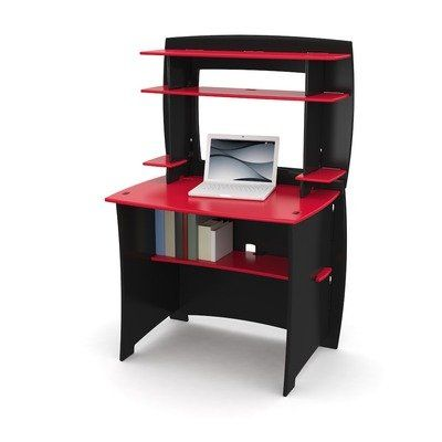 Kids' Desks - Legare Kids Desk with Hutch 36Inch Red and Black >>> Click image to review more details.