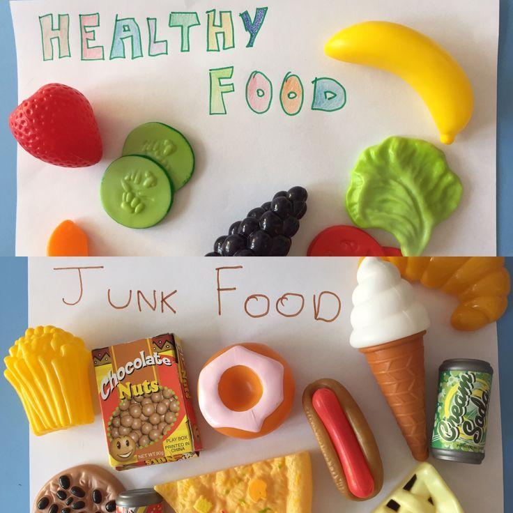 *.* Learning about healthy food and junk food with toy food! Aprendiendo sobre comida sana y comida basura... en inglés y de forma súper divertida! ^^