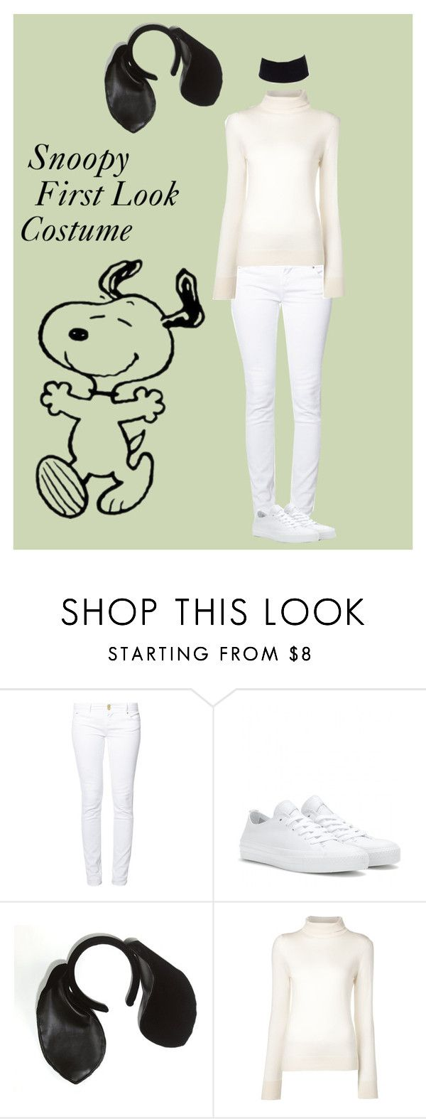 """Snoopy Costume"" by mandy337 ❤ liked on Polyvore featuring even&odd, Converse, The Row, River Island, women's clothing, women's fashion, women, female, woman and misses"