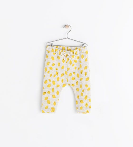 Image 1 of LEMON PRINT TROUSERS from Zara