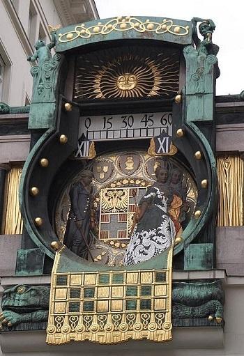 Vienna, anker-clock in Hoher market