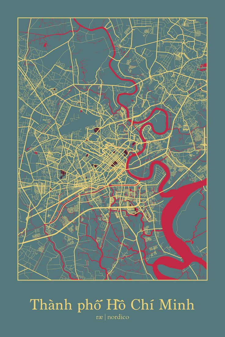Ho Chi Minh City map print Kevin