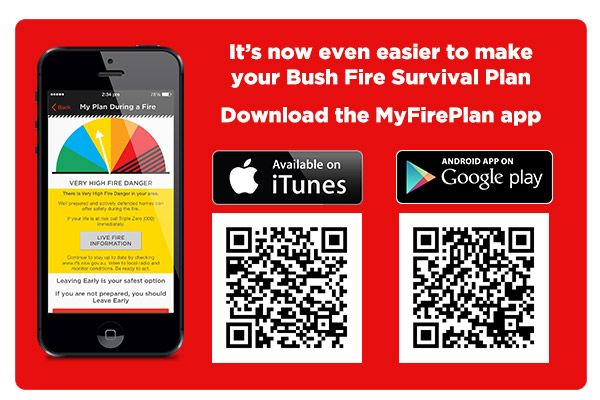 The RFS has developed a new app to help you develop your bushfire survival plan, because 'planning to make a plan is not a plan'!   If you live on bushfire prone land (which you may just have found out about!), it's really important to know what you'd do if a fire starts in the bushfire zone near you home.  Bush Fire Survival Plan - NSW Rural Fire Service